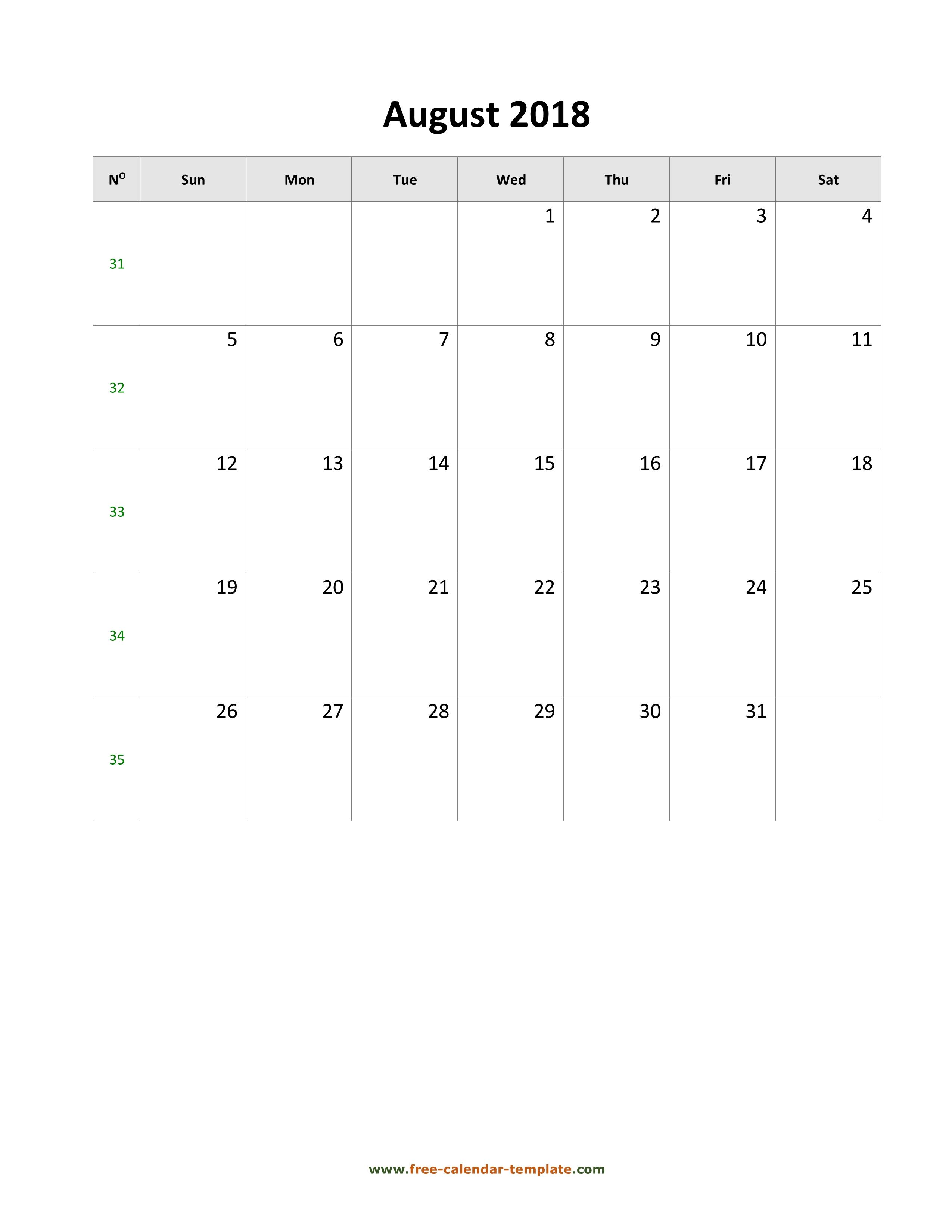 august 2018 calendar holidays vertical