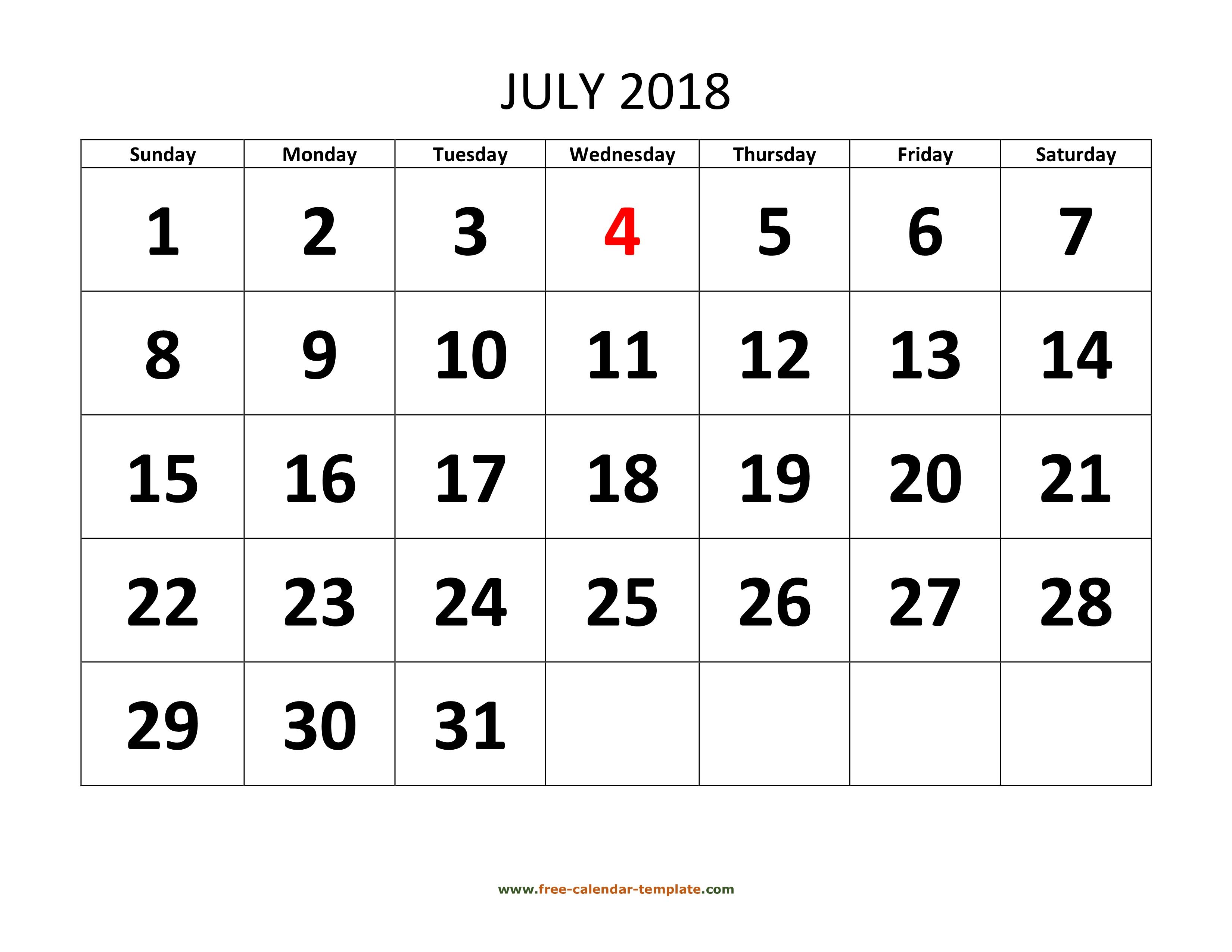 July 2018 free calendar tempplate free calendar template maxwellsz