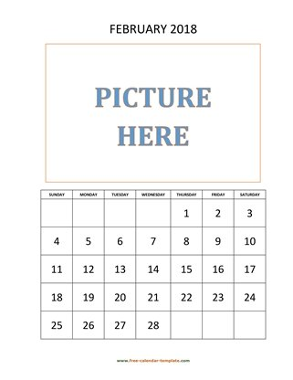 february 2018 calendar picture vertical