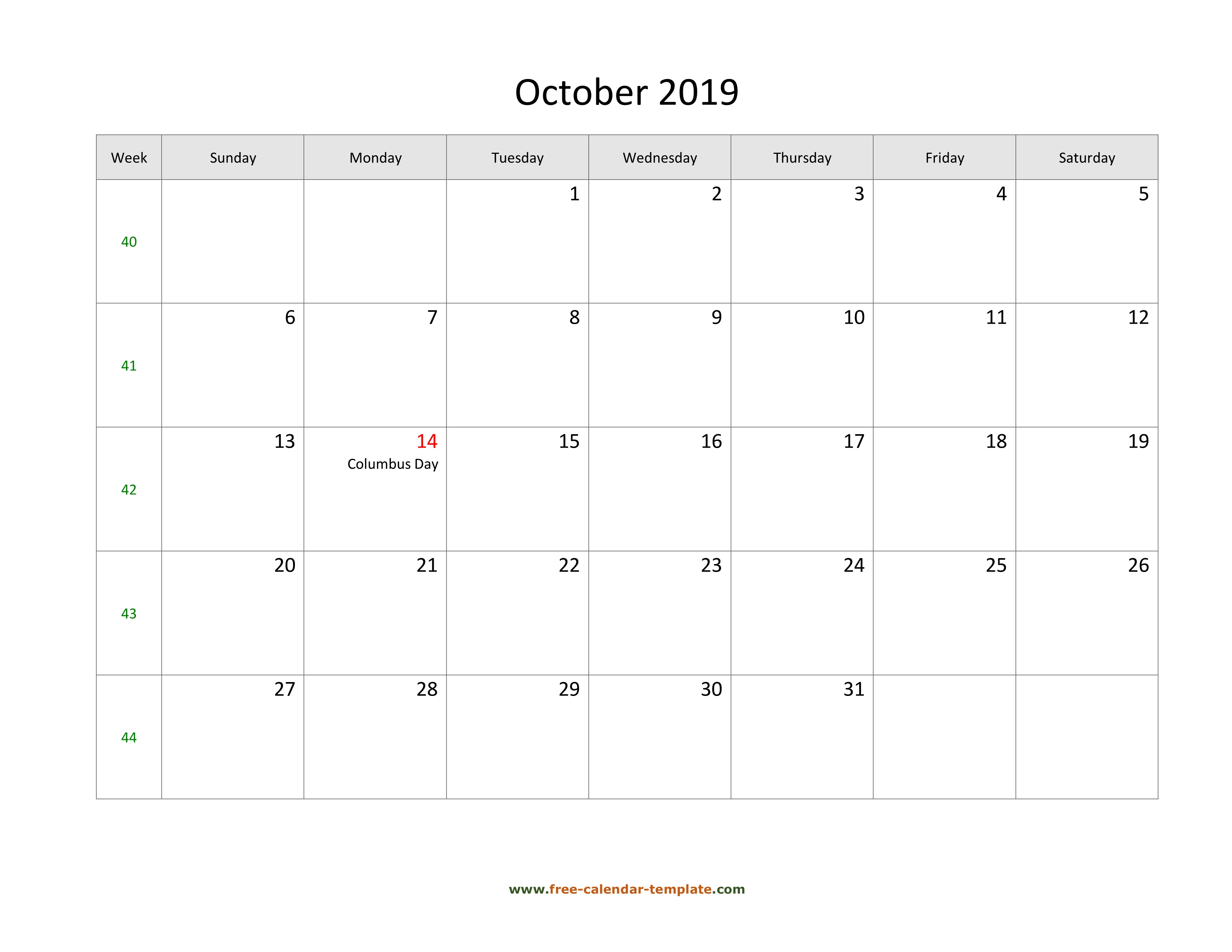 Free 2019 Calendar Template Word from www.free-calendar-template.com