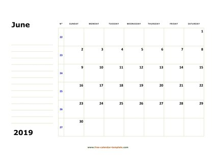 june 2019 calendar boxnotes horizontal