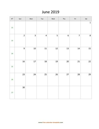 june 2019 calendar holidays vertical
