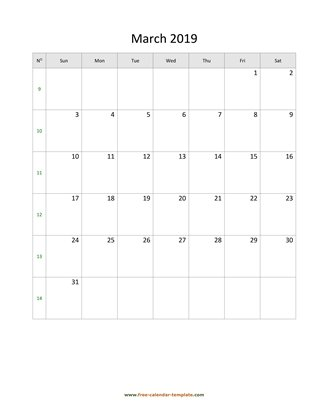 march 2019 calendar holidays vertical