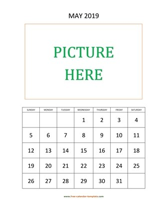 may 2019 calendar picture vertical