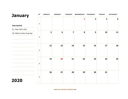 january 2020 calendar boxnotes horizontal