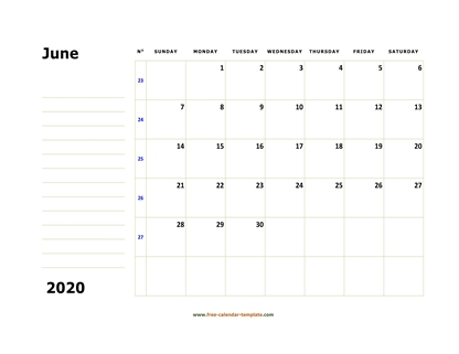 june 2020 calendar boxnotes horizontal