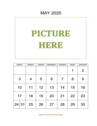 may 2020 calendar picture vertical