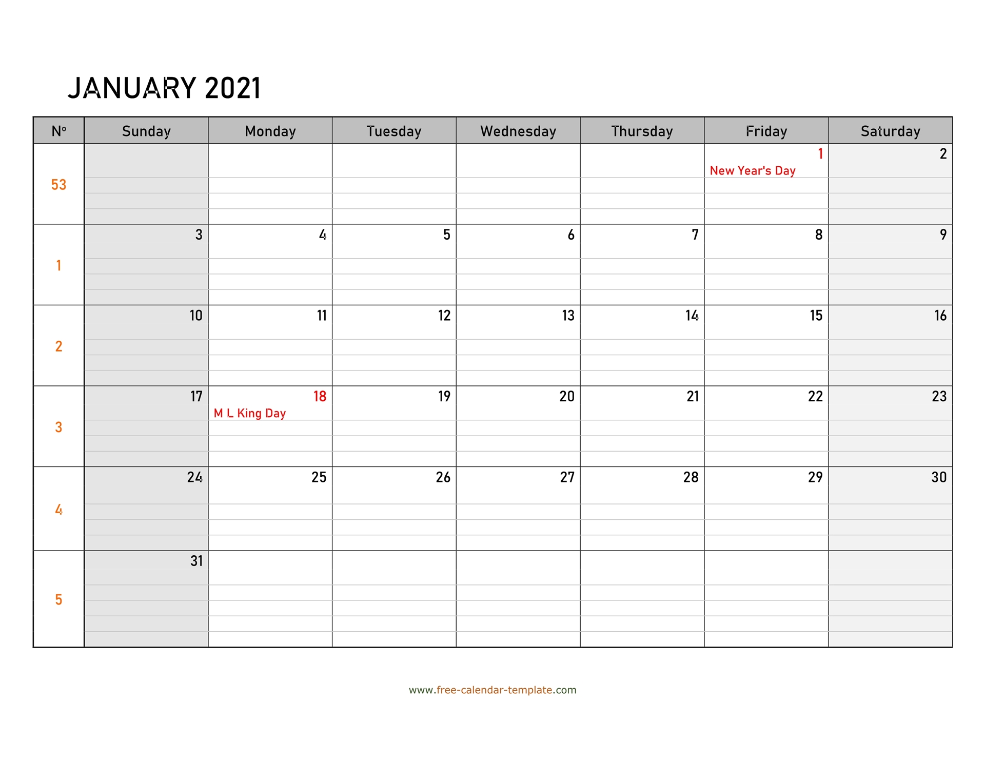 Monthly 20 Calendar Free Printable with grid lines designed ...