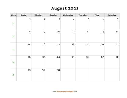 august 2021 calendar holidays horizontal