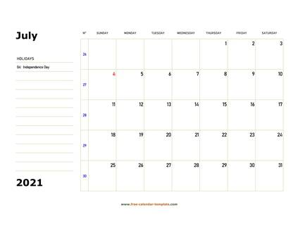 july 2021 calendar boxnotes horizontal