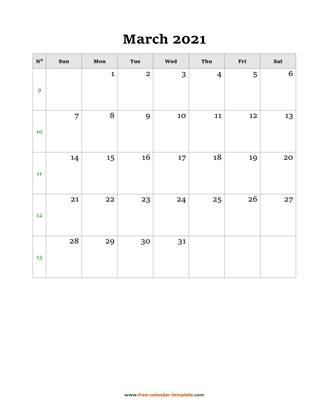 march 2021 calendar holidays vertical