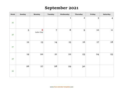 september 2021 calendar holidays horizontal