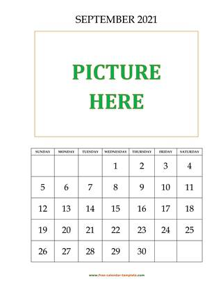 september 2021 calendar picture vertical
