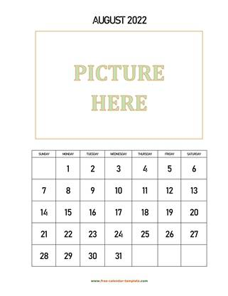 august 2022 calendar picture vertical