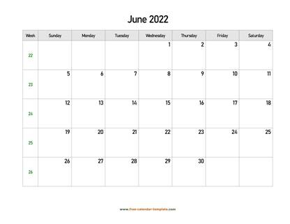 june 2022 calendar holidays horizontal