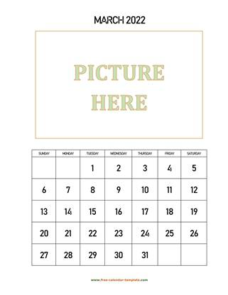 march 2022 calendar picture vertical