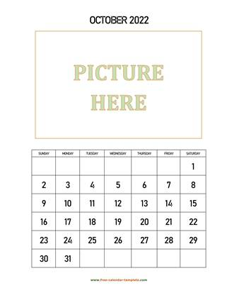 october 2022 calendar picture vertical