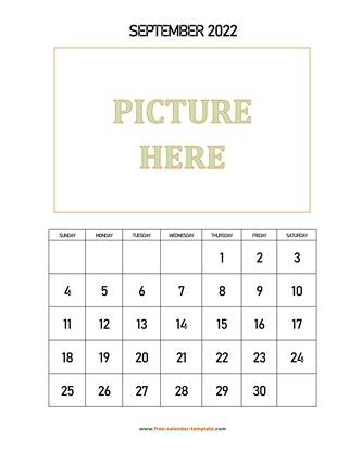 september 2022 calendar picture vertical